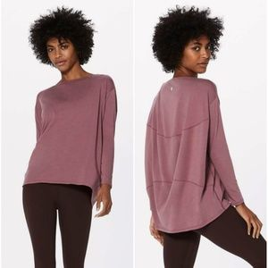 Lululemon Figue Back in Action Long Sleeve Top
